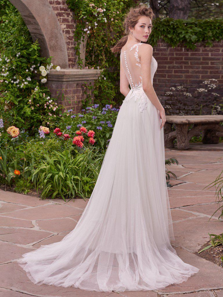 10 Boho Wedding Dresses by Rebecca Ingram - To be completed with rose-gold cuffs. Gina by Rebecca Ingram.