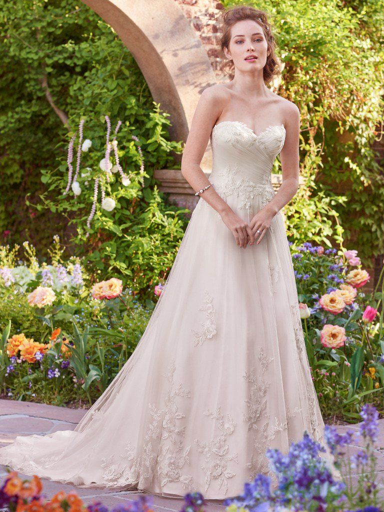 A-line wedding dresses by Maggie Sottero, Sottero and Midgley and Rebecca Ingram - Eleanor by Rebecca Ingram