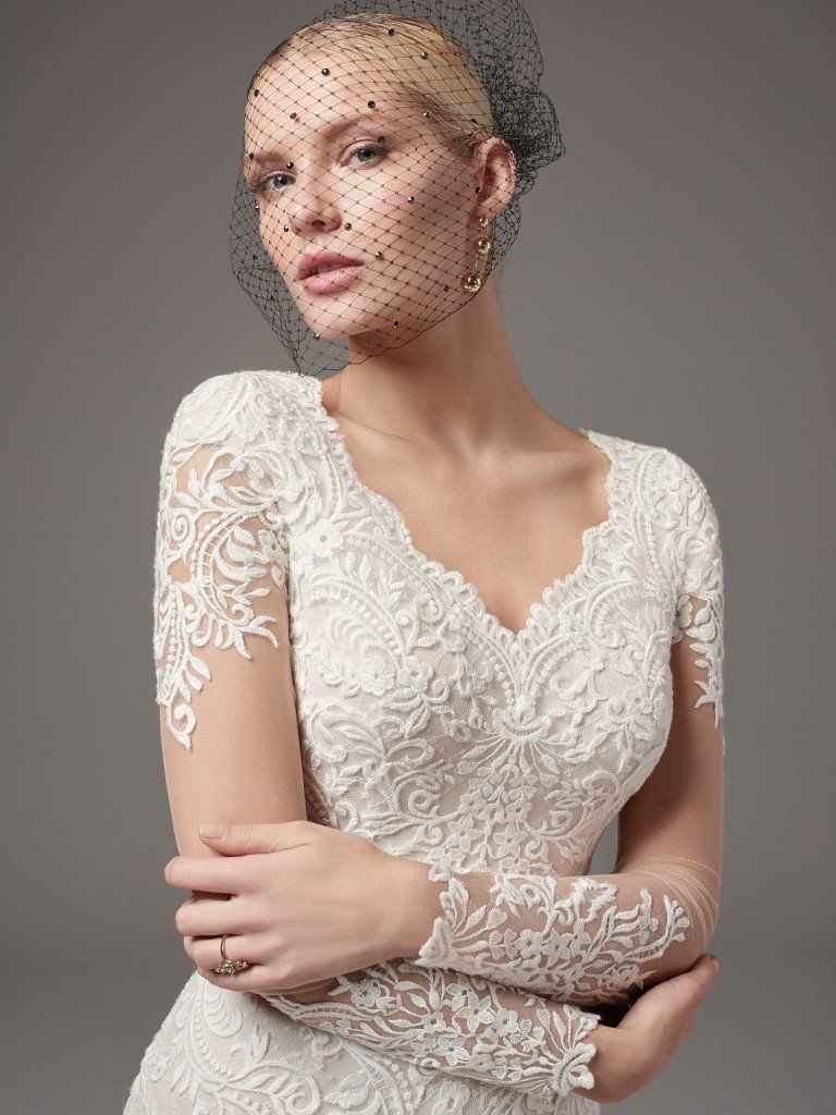 Picture-Perfect Veils for Your Vintage Wedding Dress - Melrose Lynette by Sottero and Midgley for vintage style wedding