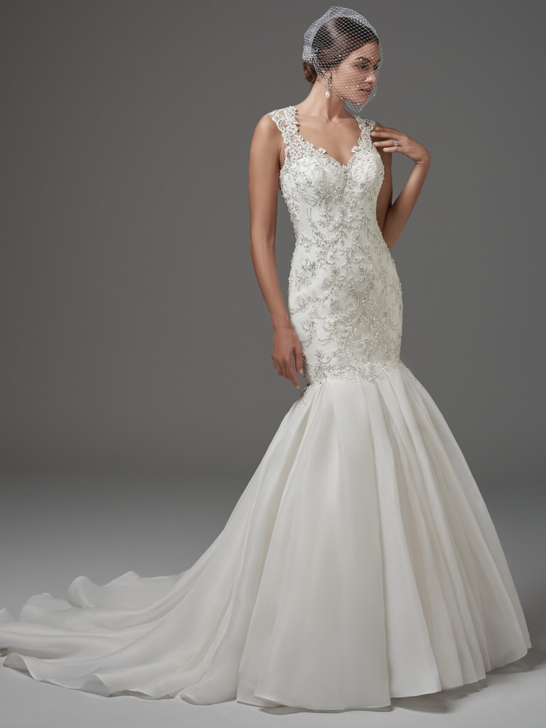 Find embellished lace wedding dresses from Maggie Sottero - Fontaine by Sottero and Midgley