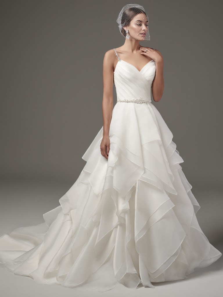 Finding the Perfect Wedding Dress for Your Body Type - Athletic shapes Blaire by Sottero and Midgley