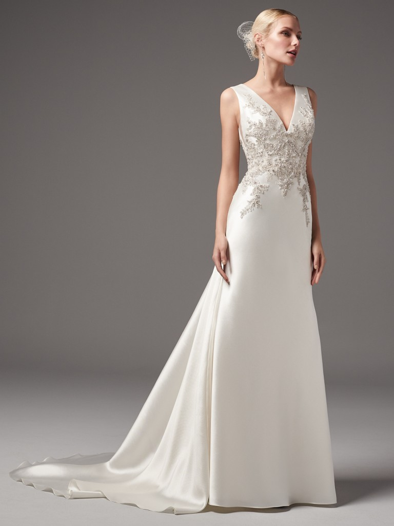 Clayton wedding dress by Sottero and Midgley for the vintage bride
