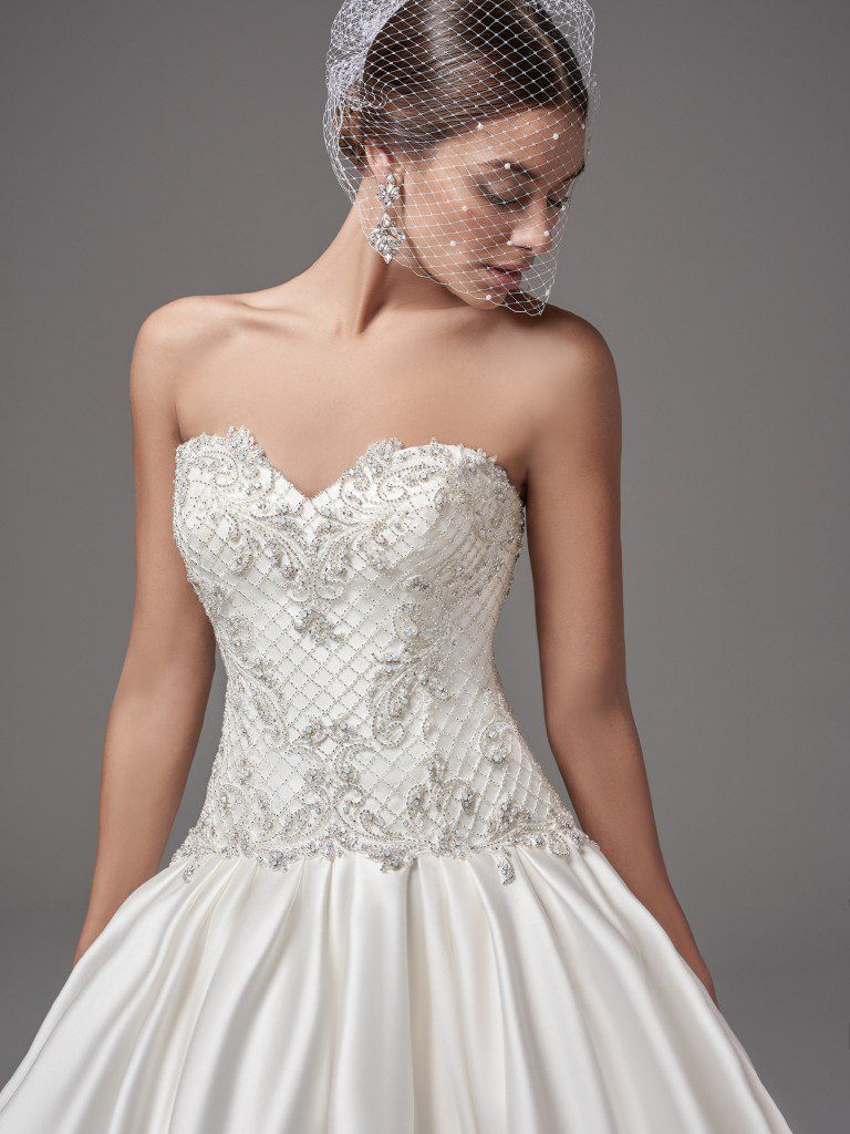 Drop-waist wedding dresses by Maggie Sottero, Sottero and Midgley and Rebecca Ingram - Hampton by Sottero and Midgley