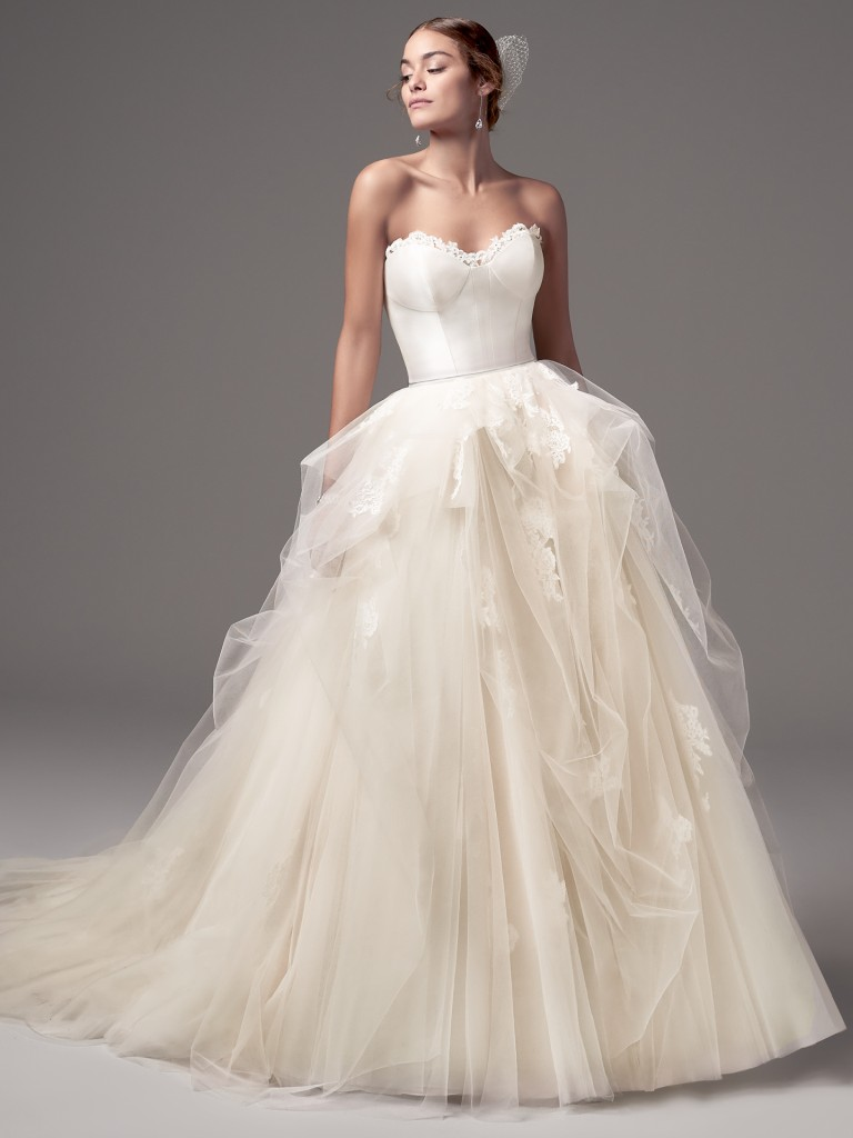 Foster Rose wedding dress by Sottero and Midgley for the statement bride
