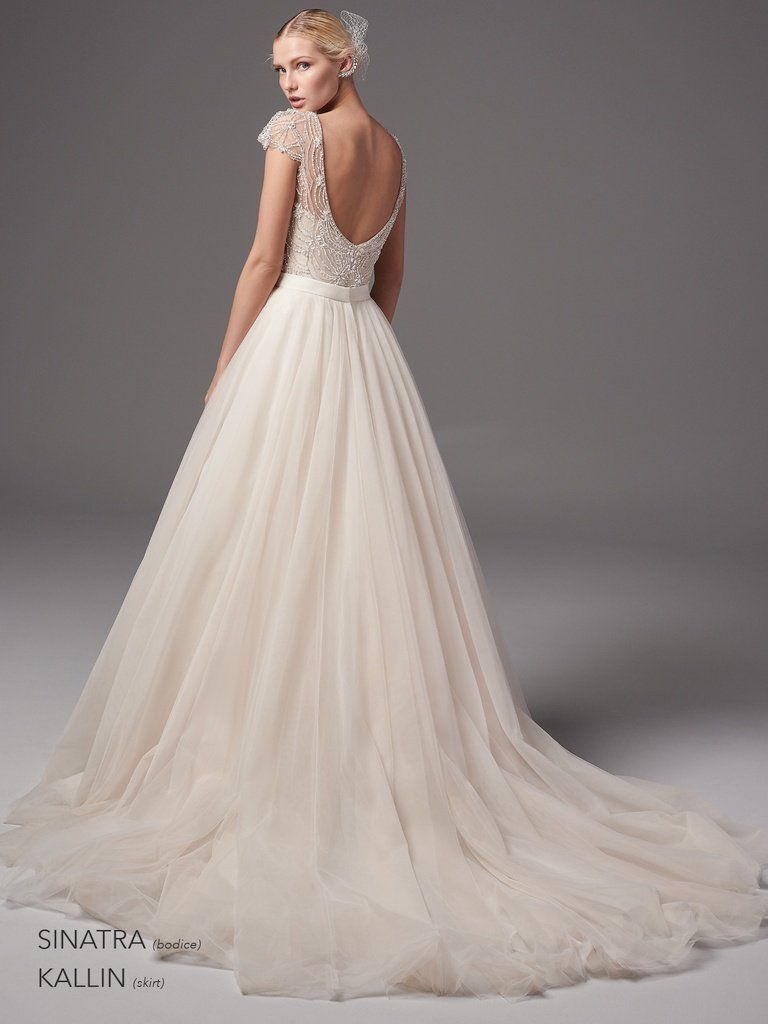 Kallin and Sinatra two-piece wedding dress by Sottero and Midgley