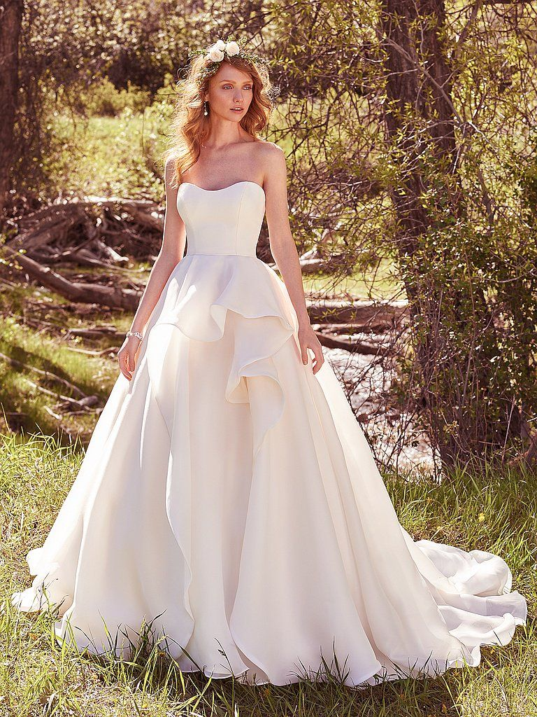 The Ultimate Guide to Wedding Gowns for Curvy Brides from Whitney of CurveGenius - Try the Bianca Marie wedding dress by Maggie Sottero if you're a tall and curvy bride.
