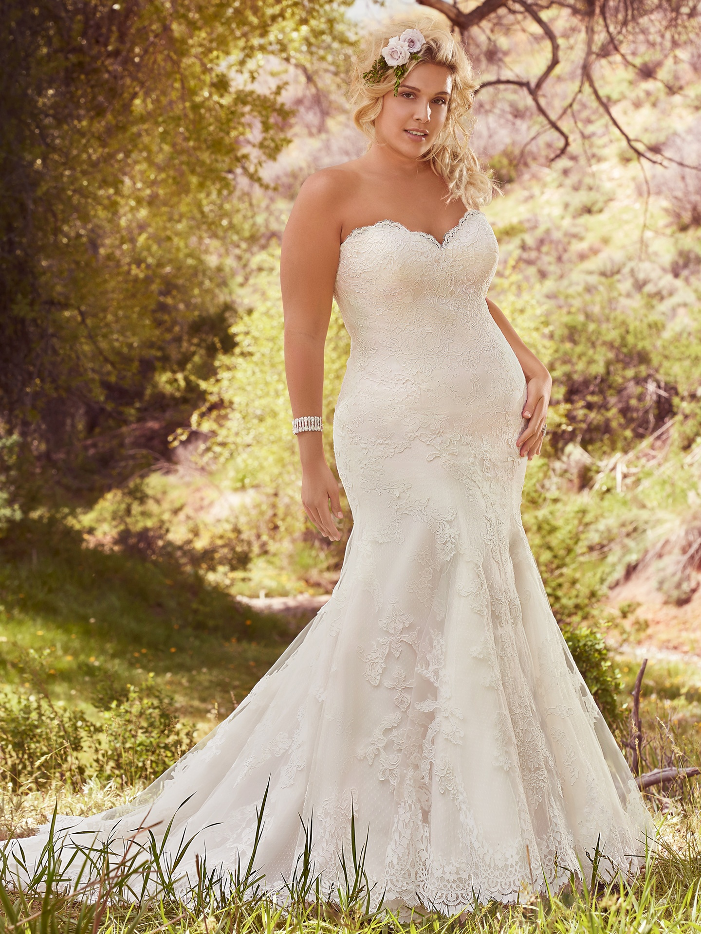 Flattering Wedding Dresses for Curvy Brides - Cadence by Maggie Sottero