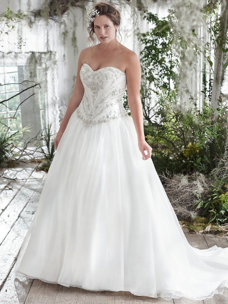 Organza wedding dress Corbin by Maggie Sottero