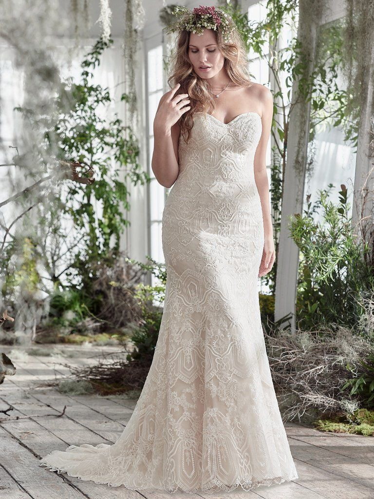 Flattering Wedding Dresses for Curvy Brides - Fredricka by Maggie Sottero