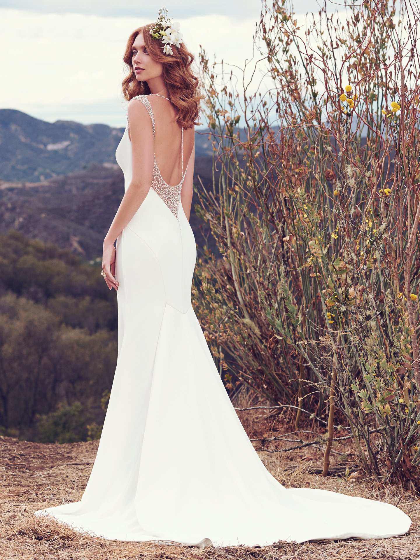 15 Gorgeous Statement-Back Gowns for the Stylish Bride - Evangelina wedding dress with statement back by Maggie Sottero