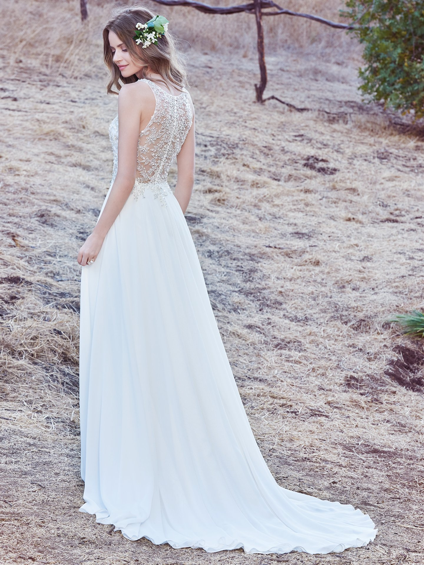 Chiffon wedding dress Maren by Maggie Sottero