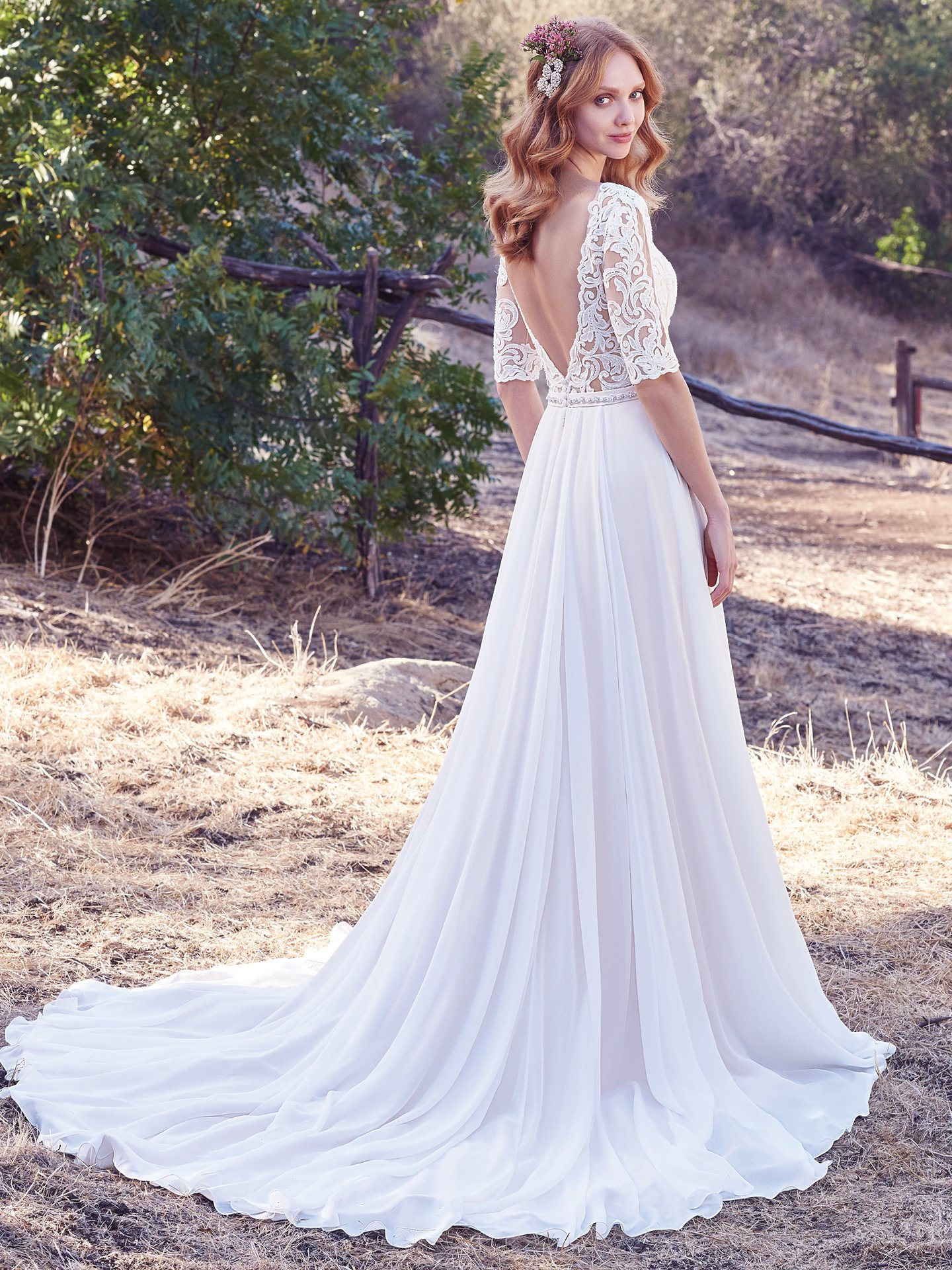 Ivory Over Blush Wedding Dress By Maggie Sottero Colorful Dresses For The Bold Bride
