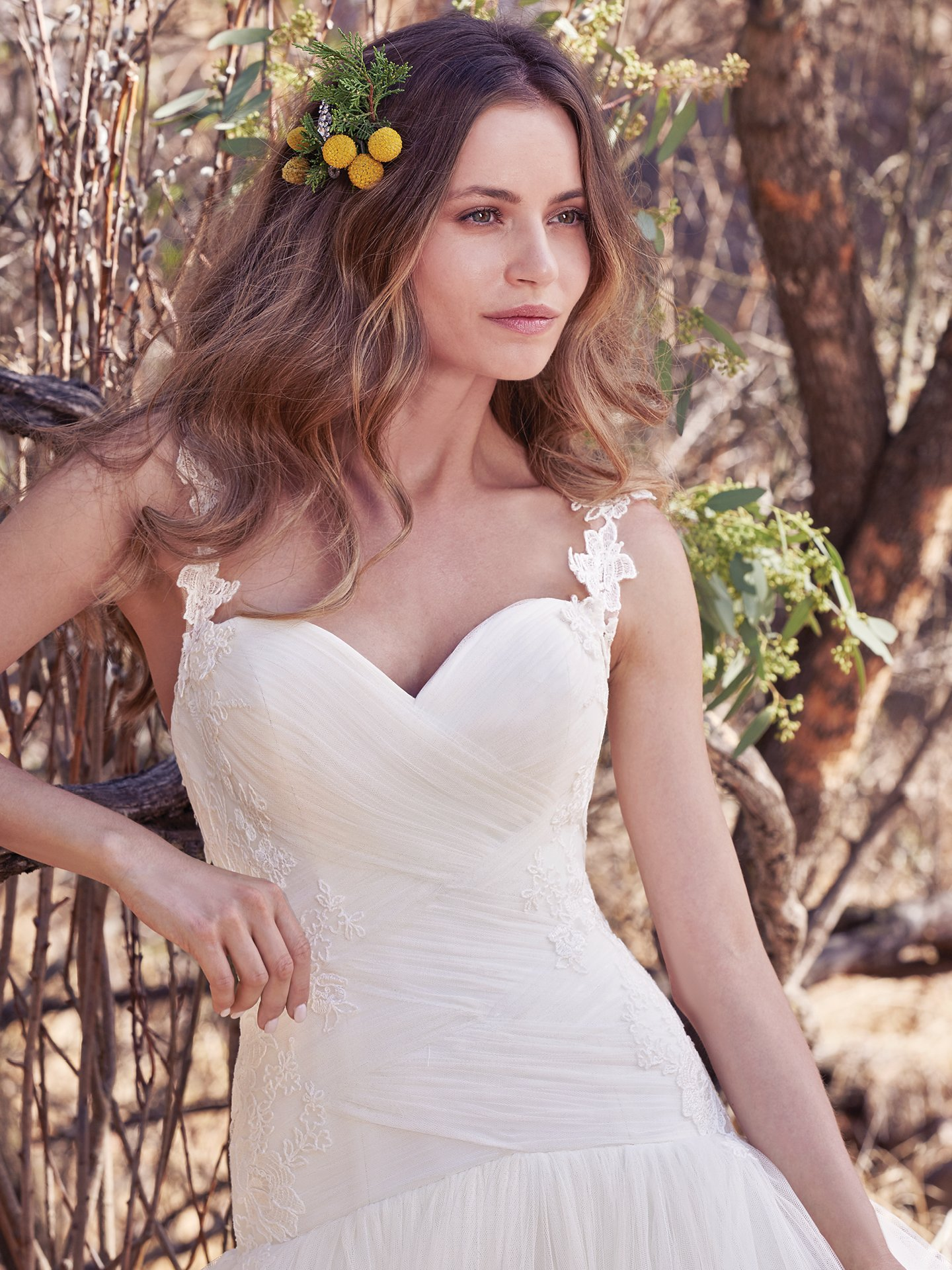Asymmetrical Ruching Adds Movement and Dimension. Wedding Gowns that Look Great in Photos - Kirvy asymmetrical wedding dress by Maggie Sottero