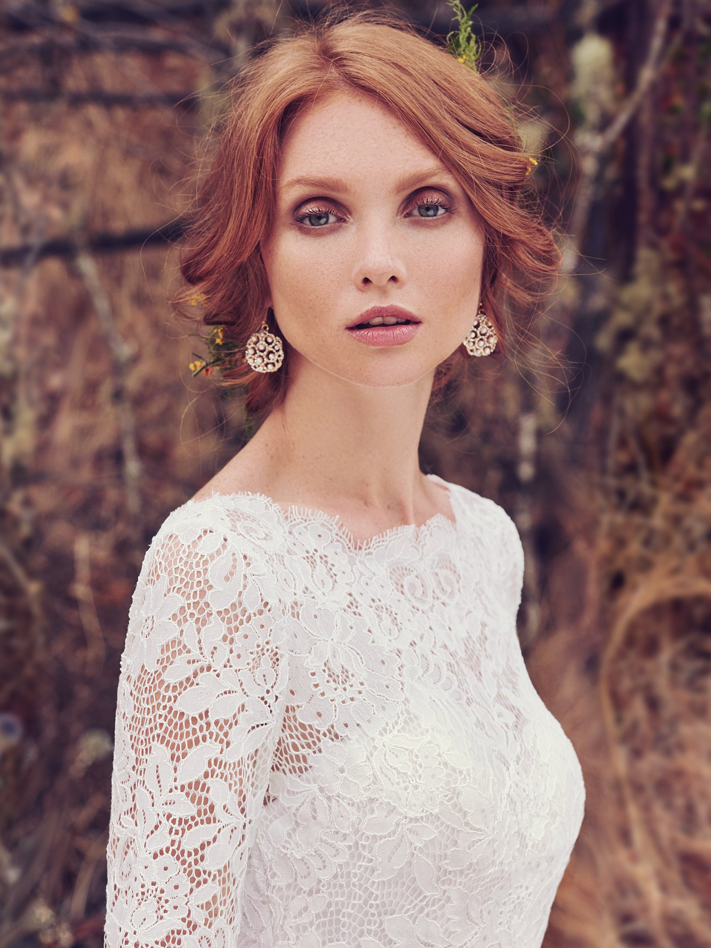 Bold lace wedding dress Cordelia by Maggie Sottero