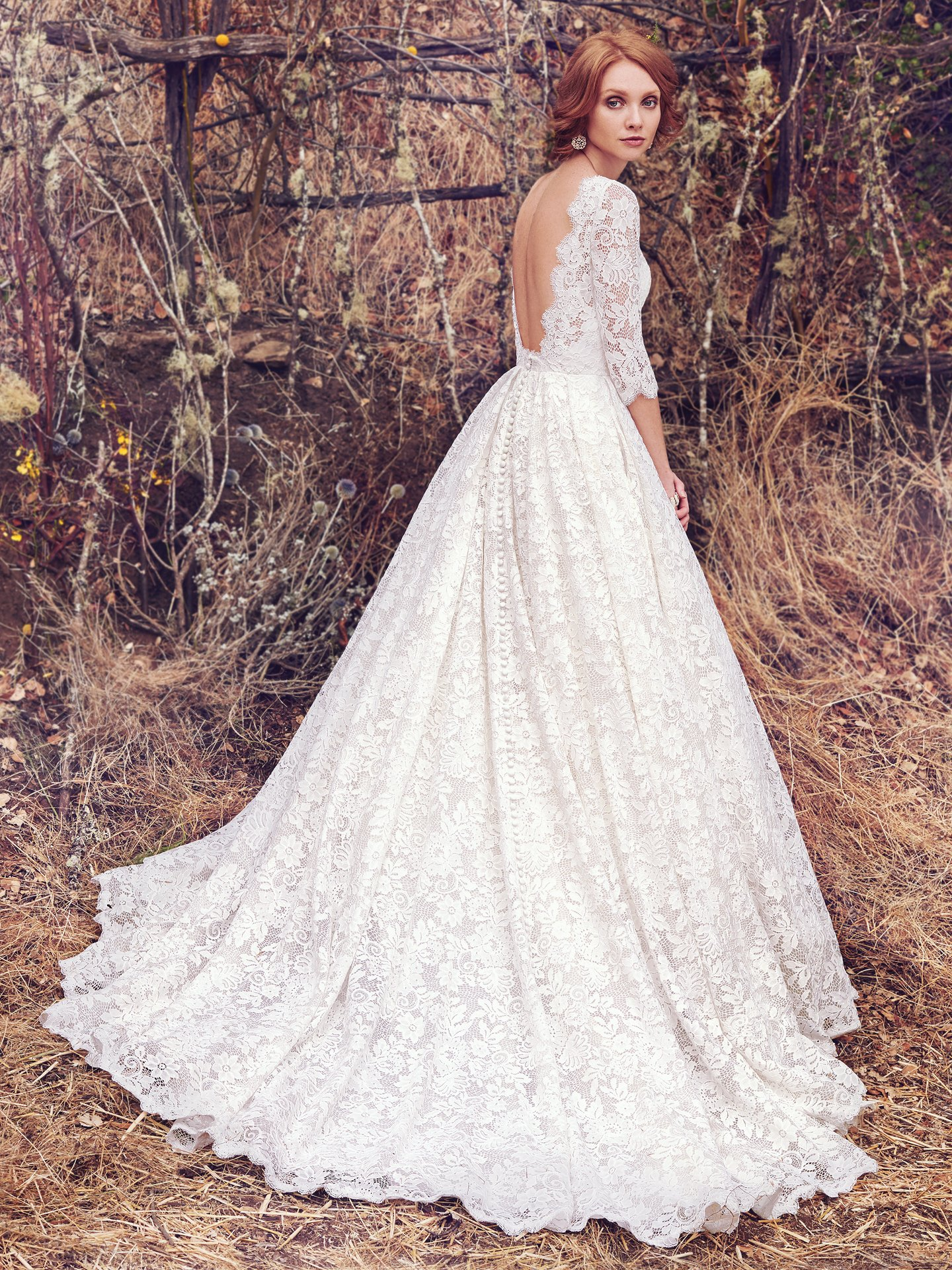 Cordelia wedding dress with sleeves by Maggie Sottero. Modern Royalty: Wedding Dresses Inspired by the Royal Engagement