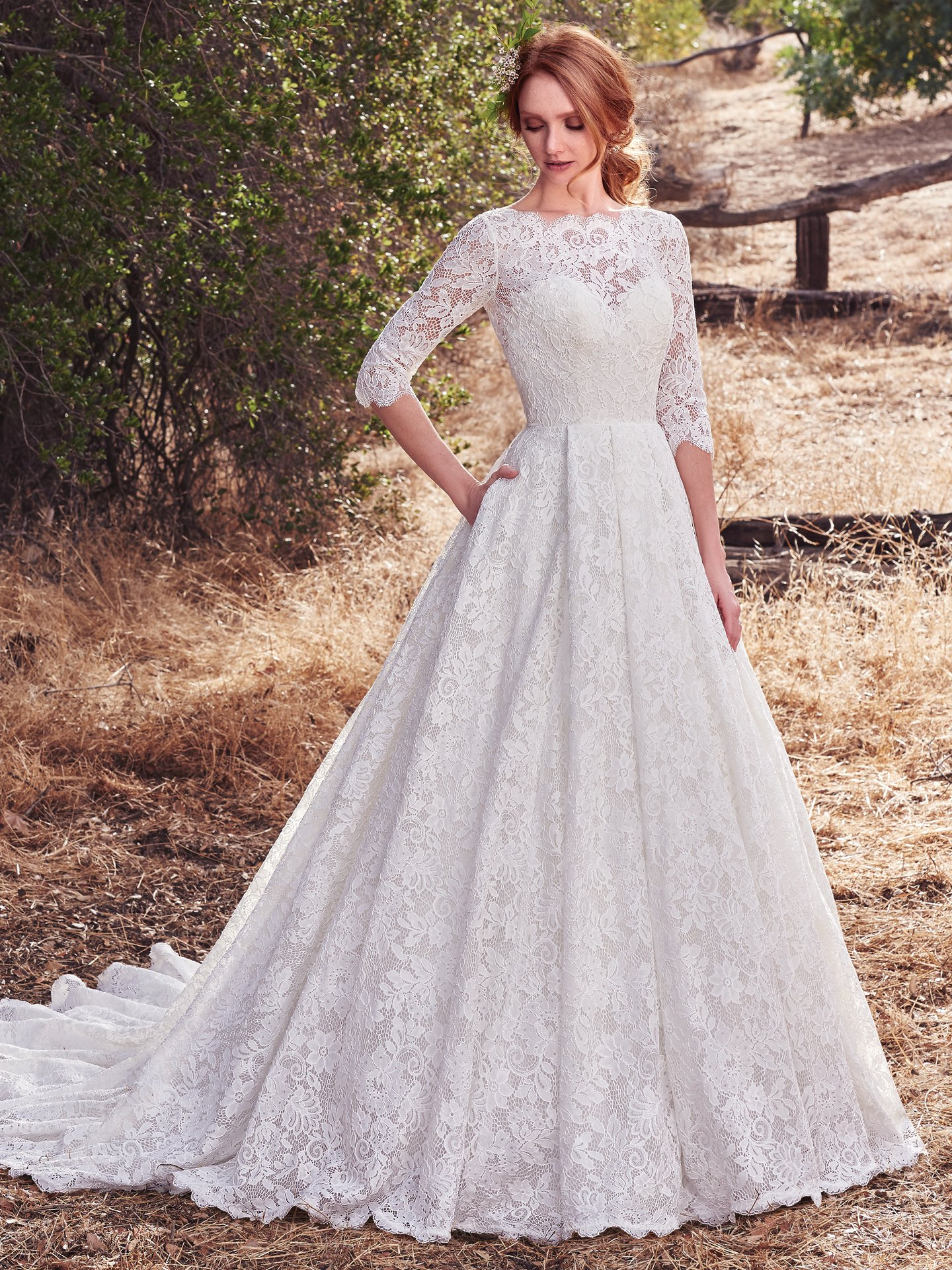 Famous Weddings Throughout History - Cordelia wedding dress by Rebecca Ingram mimics Grace Kelly's classic style