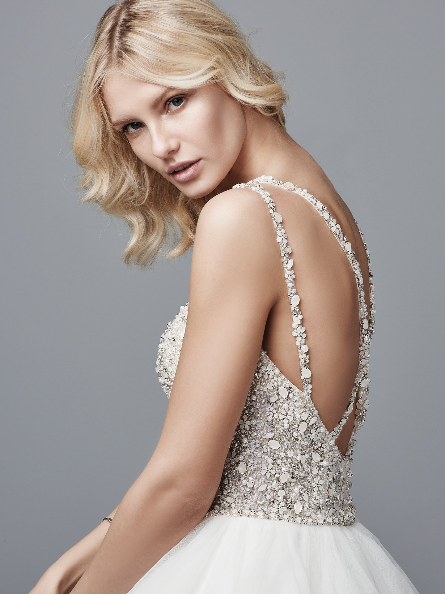 Wedding Gowns that Look Great in Photos - Micah sparkly ball gown wedding dress by Sottero and Midgley