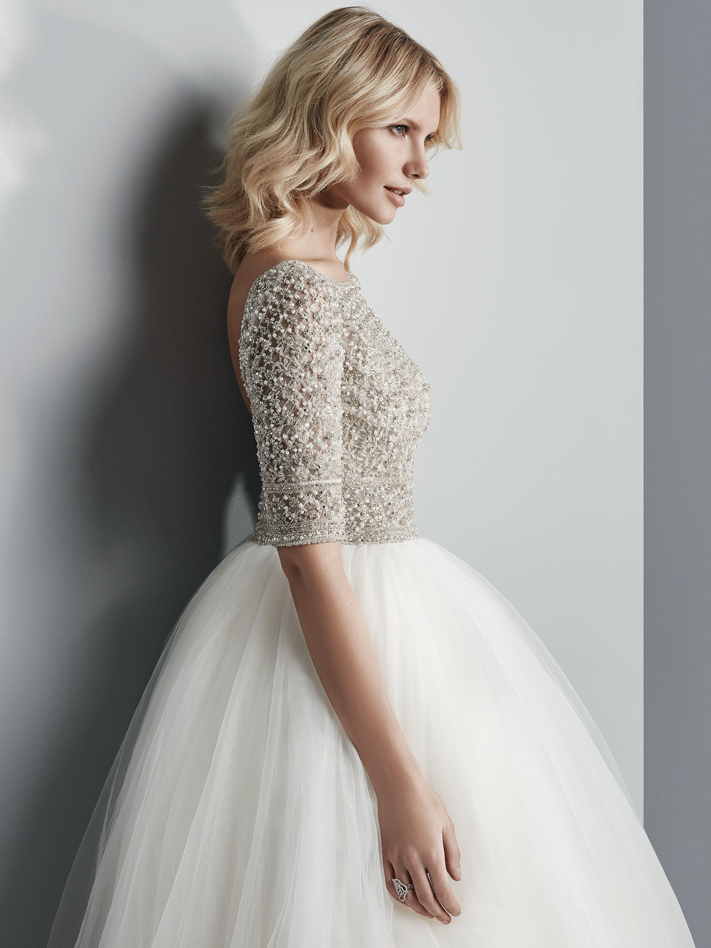 Wedding Gowns that Look Great in Photos - Allen sparkly ball gown wedding dress by Sottero and Midgley
