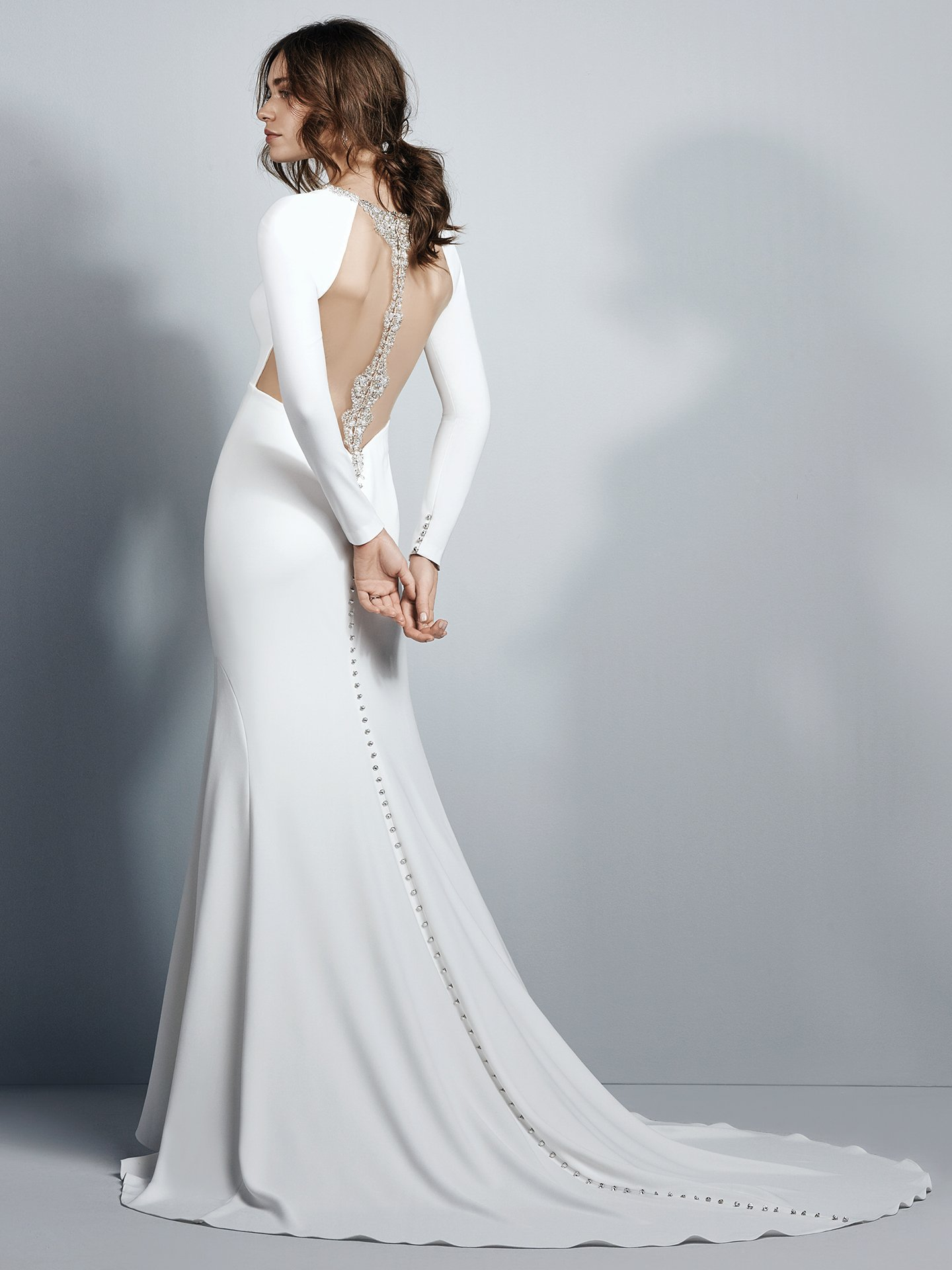 13 Gorgeous Statement-Back Gowns for the Stylish Bride - Arleigh wedding dress with statement back by Sottero and Midgley