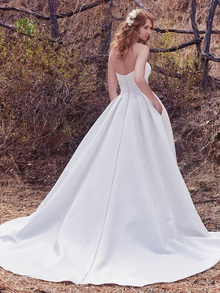 Simple satin wedding dress from Maggie Sottero - Cressida