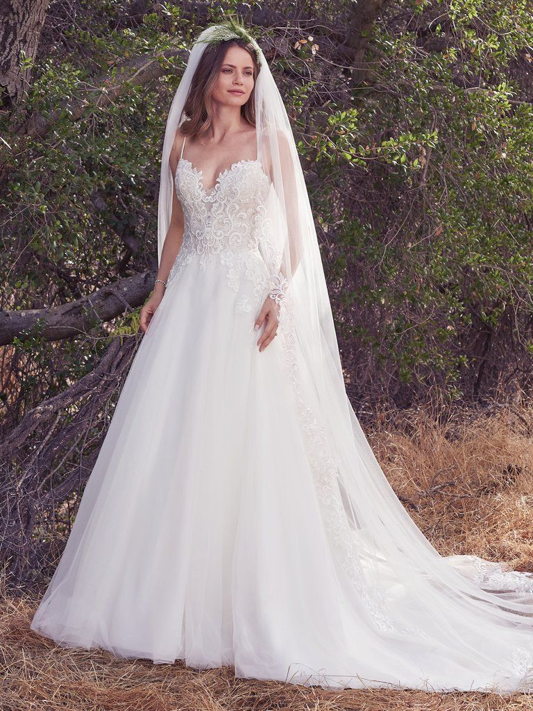 Morocco 7mn902 Simple A Line Wedding Dress By Maggie Sottero