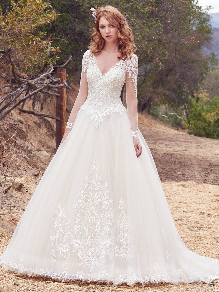 Wedding Gowns that Look Great in Photos - Berkley wedding dress by Maggie Sottero