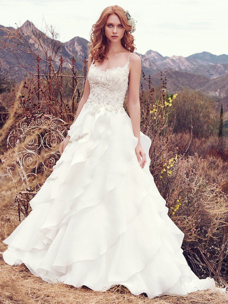 Wedding Gowns that Look Great in Photos - Cambrie wedding dress by Maggie Sottero