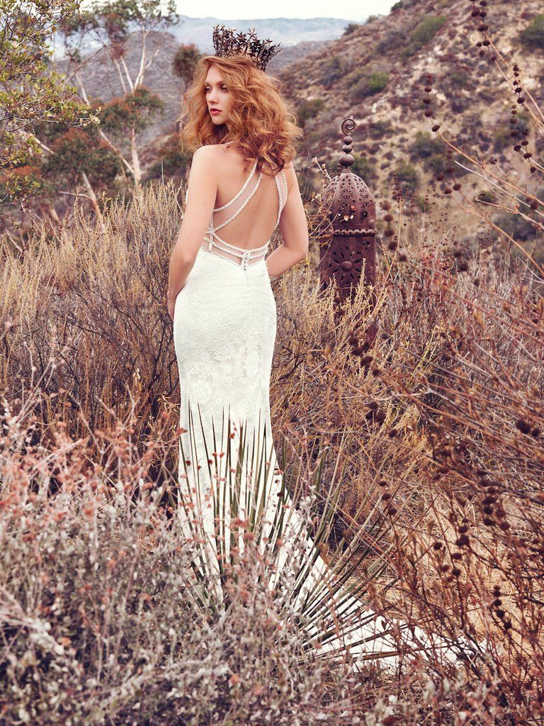 Vintage Wedding Gowns with Geometric Details - Sinclaire wedding dress by Maggie Sottero