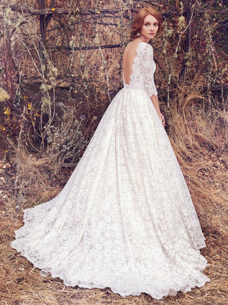 "More ""Second Looks"" for Your Ceremony and Reception - Cordelia wedding dress with sleeves by Maggie Sottero"