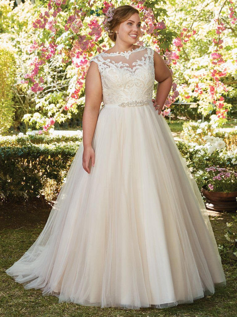 The Ultimate Guide to Wedding Gowns for Curvy Brides from Whitney of CurveGenius - Try the Carrie wedding dress by Rebecca Ingram if you're heavier in the bust and smaller in the hips.