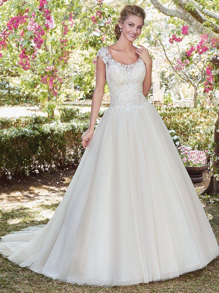 "More ""Second Looks"" for Your Ceremony and Reception - Mona wedding dress by Rebecca Ingram"
