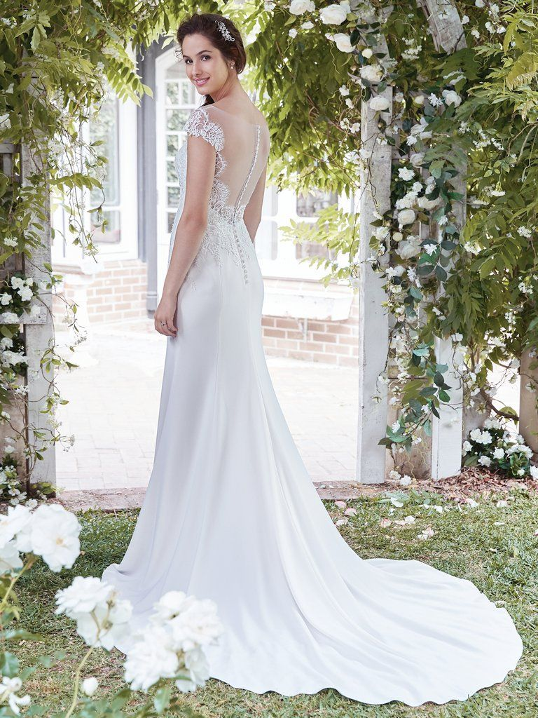 Best Accessories for Your Boho Wedding Dress - Naomi boho wedding dress by Rebecca Ingram paired with edgy heels