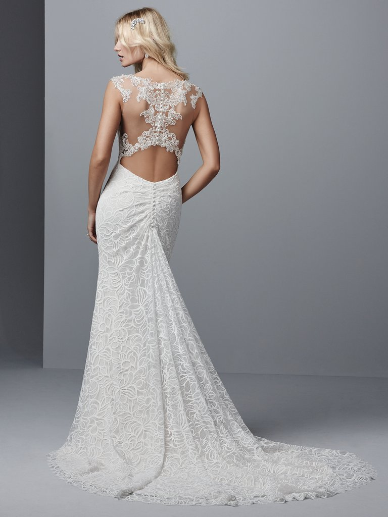 13 Gorgeous Statement-Back Gowns for the Modern Bride - Tasha wedding dress with statement back by Sottero and Midgley