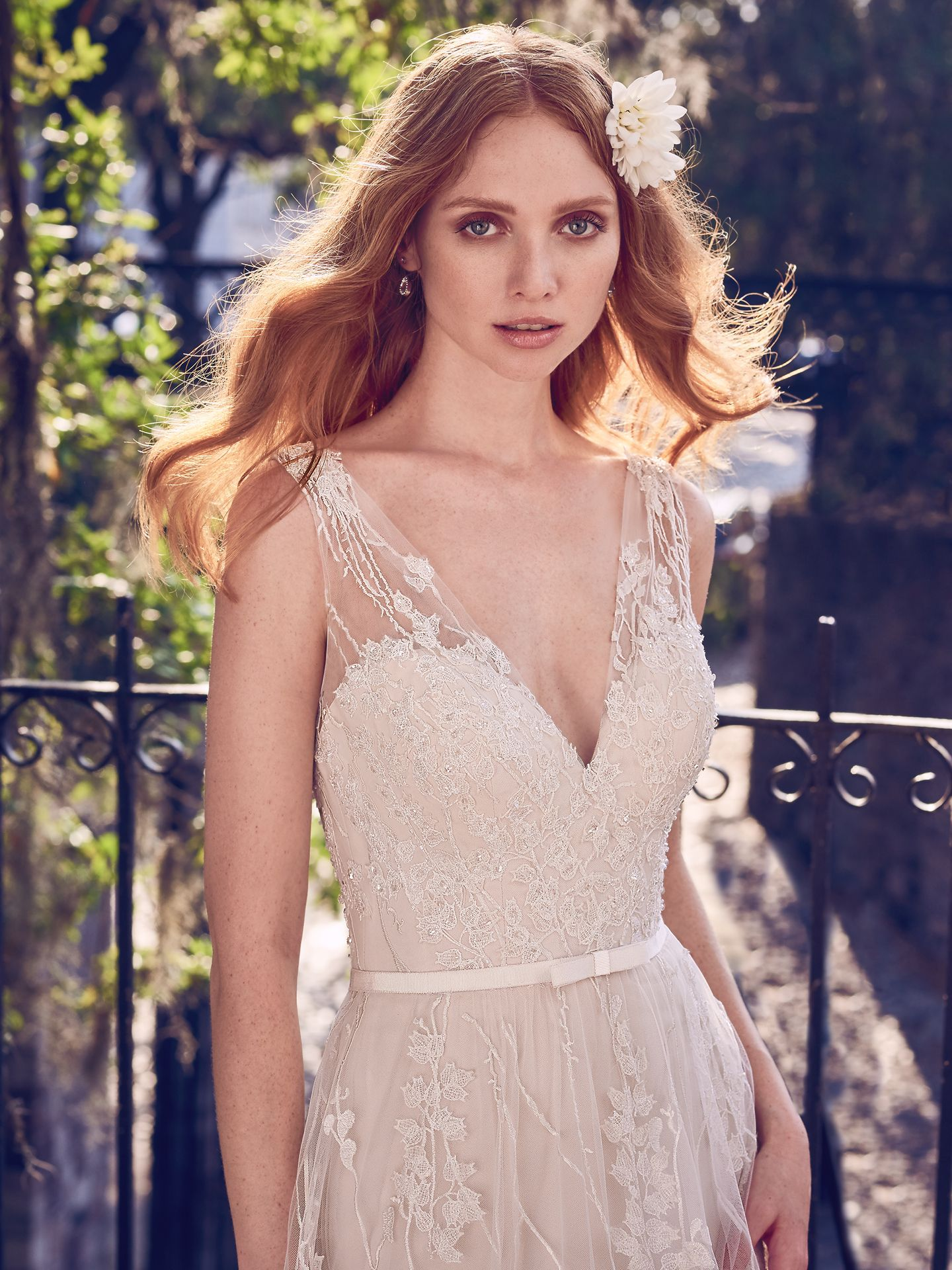 6 Best Wedding Dresses for a Rustic Wedding - Belecia wedding dress by Maggie Sottero