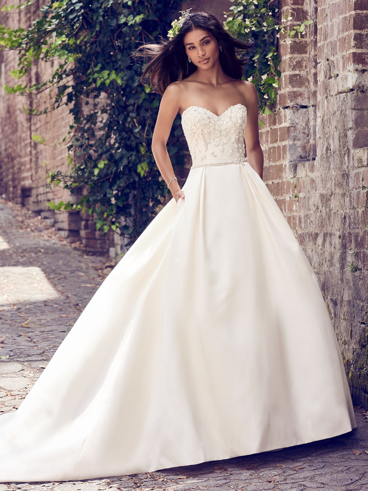 Pleated tulle wedding dress Giselle by Maggie Sottero