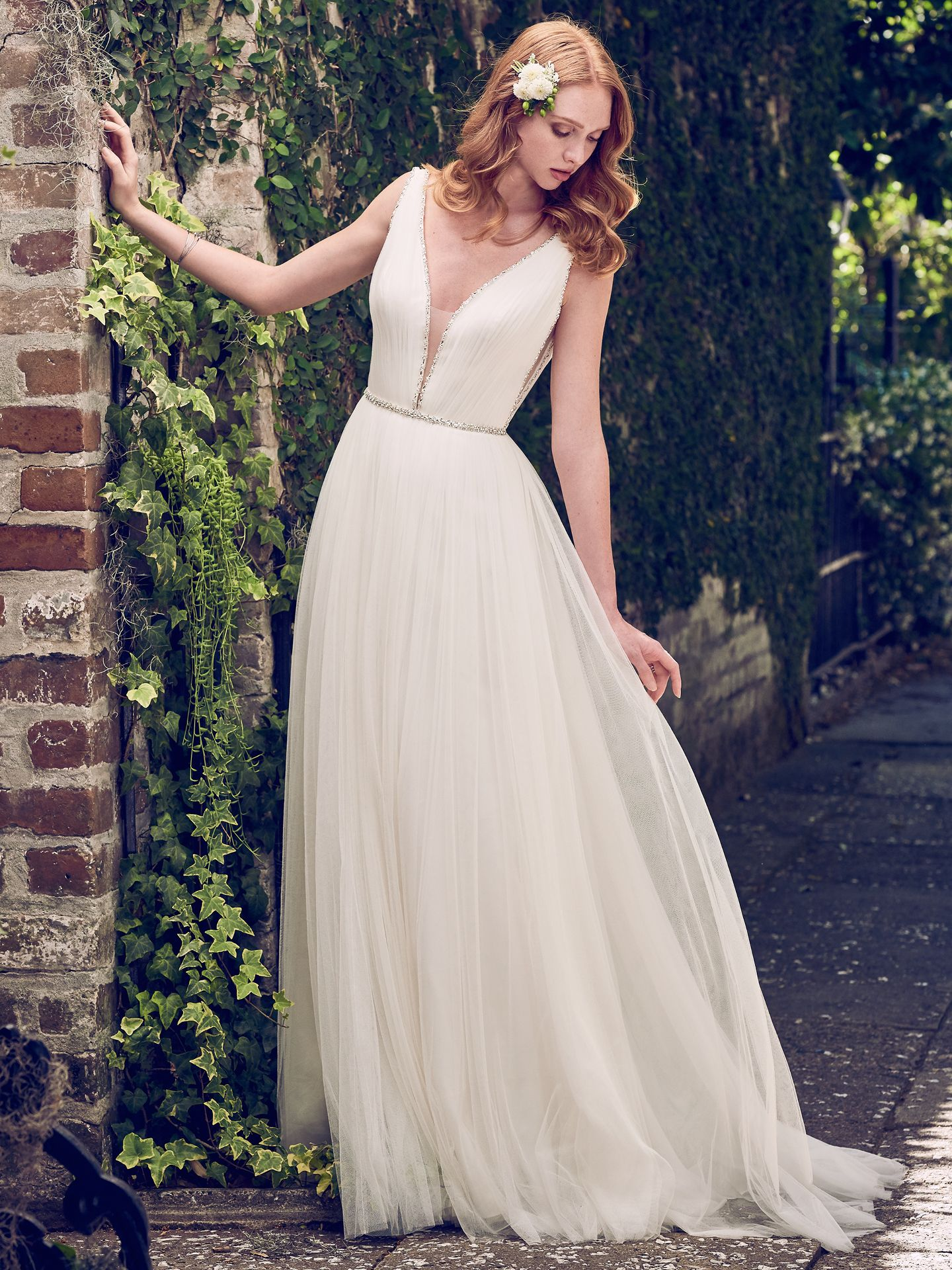 Wedding Gowns that Look Great in Photos - Tamar tulle wedding dress by Maggie Sottero