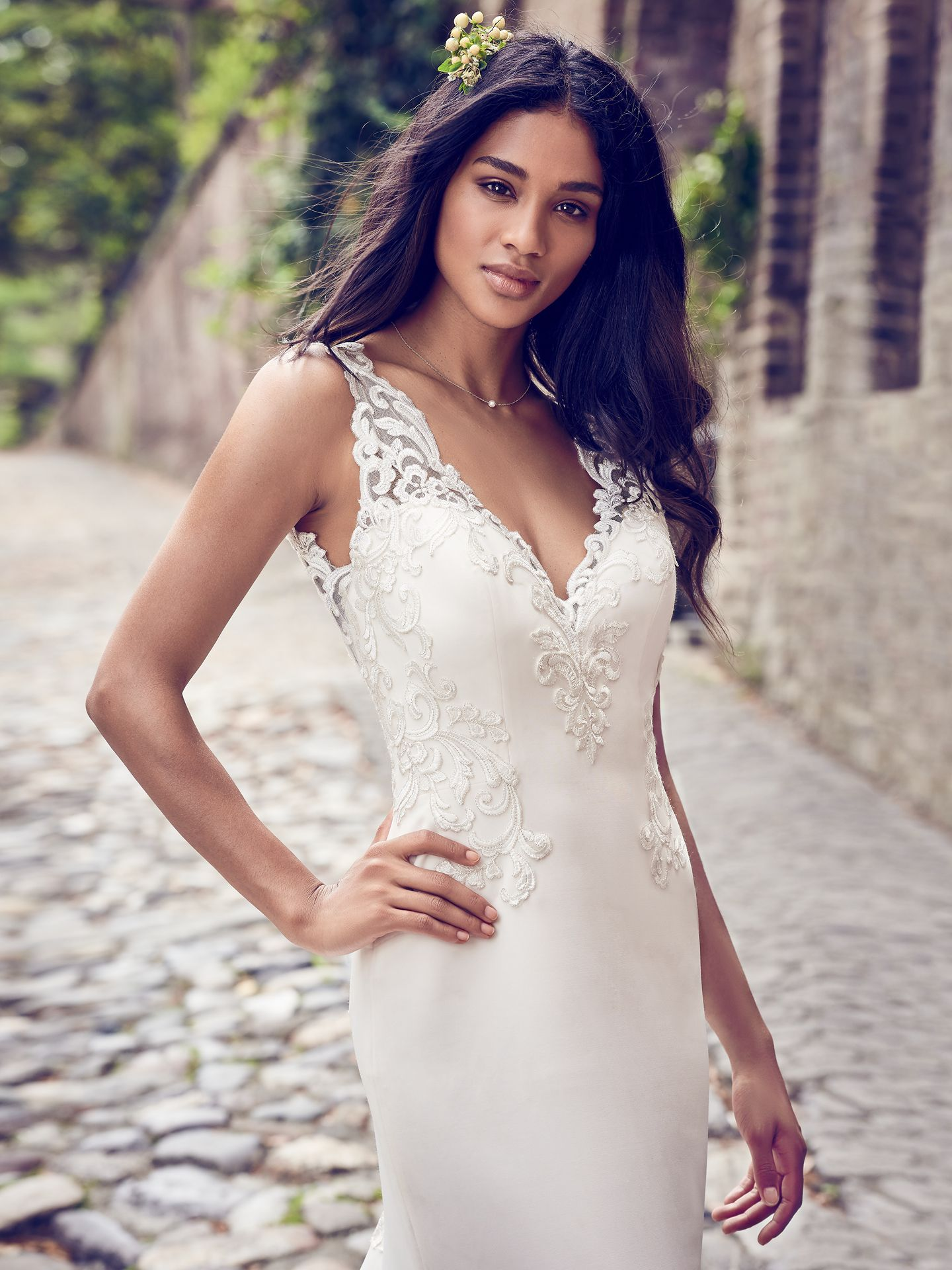 Veronica wedding dress for boho muse—a modern and feminine slip style. - The Latest Wedding Dress Trends for Engagement Season 2018