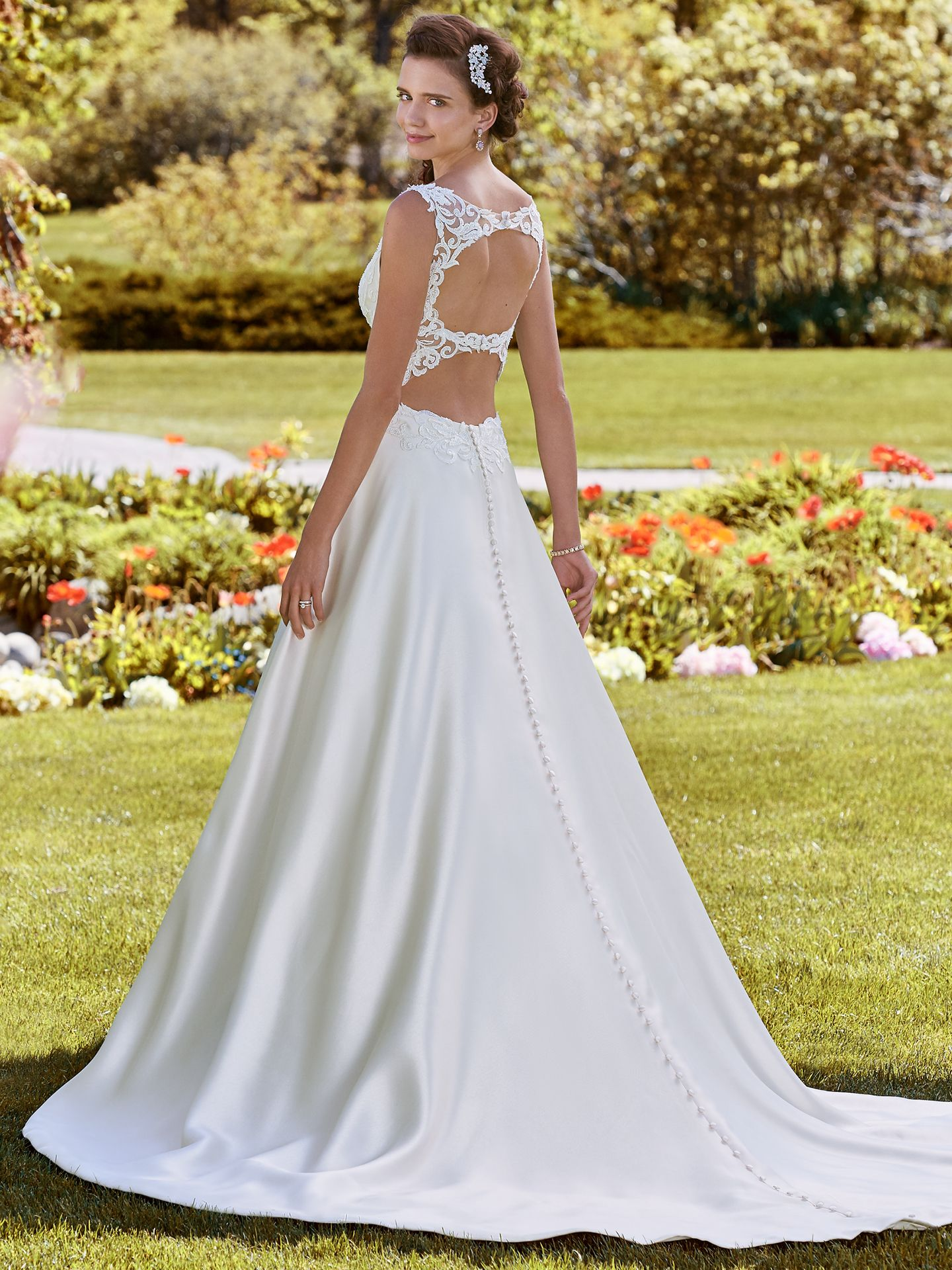 Brooke Mikado princess ball gown wedding dress with keyhole back by Rebecca Ingram. Modern Royalty: Wedding Dresses Inspired by the Royal Engagement