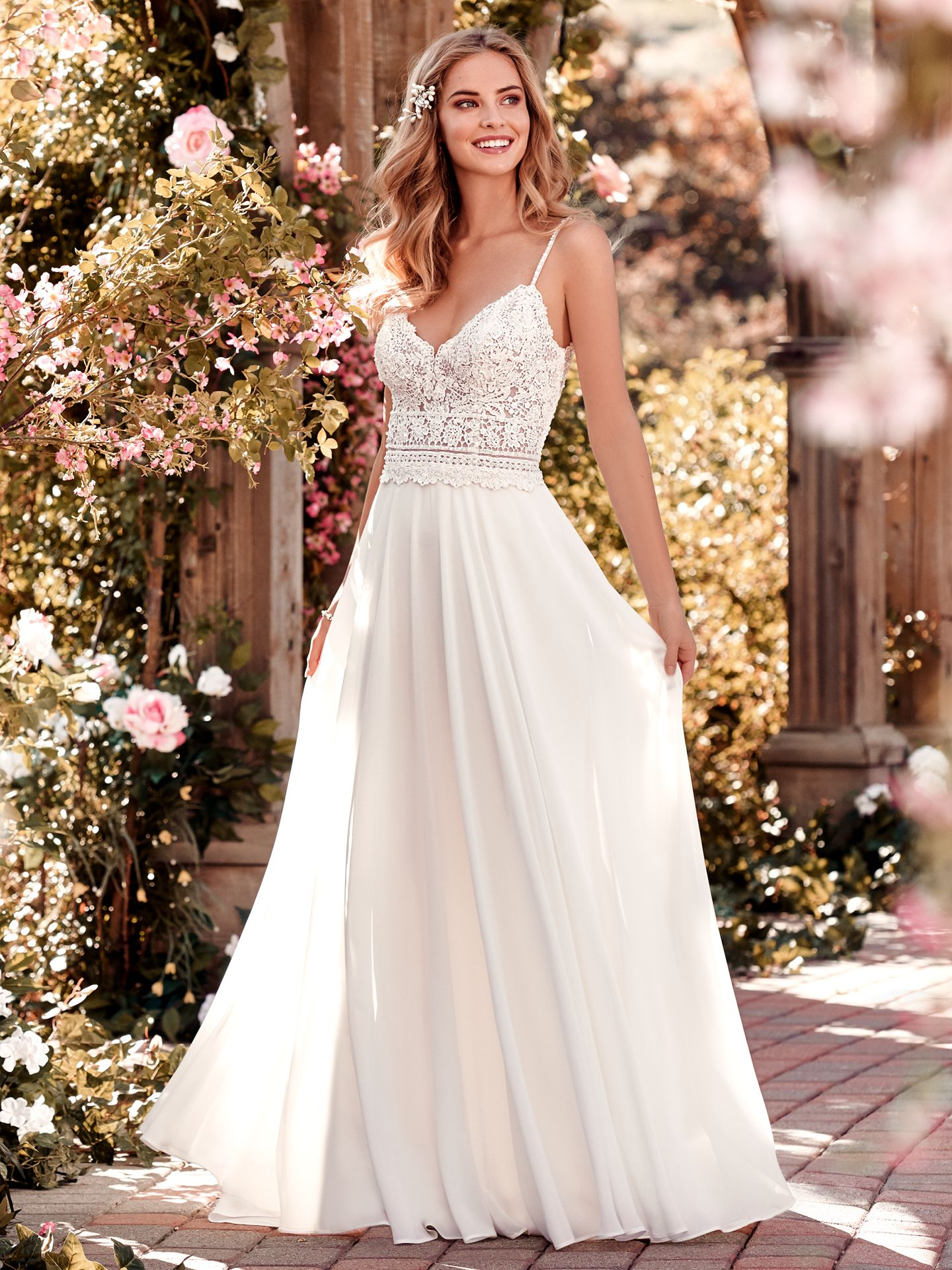 Juniper wedding dress for boho muse—a modern and feminine slip style. - The Latest Wedding Dress Trends for Engagement Season 2018