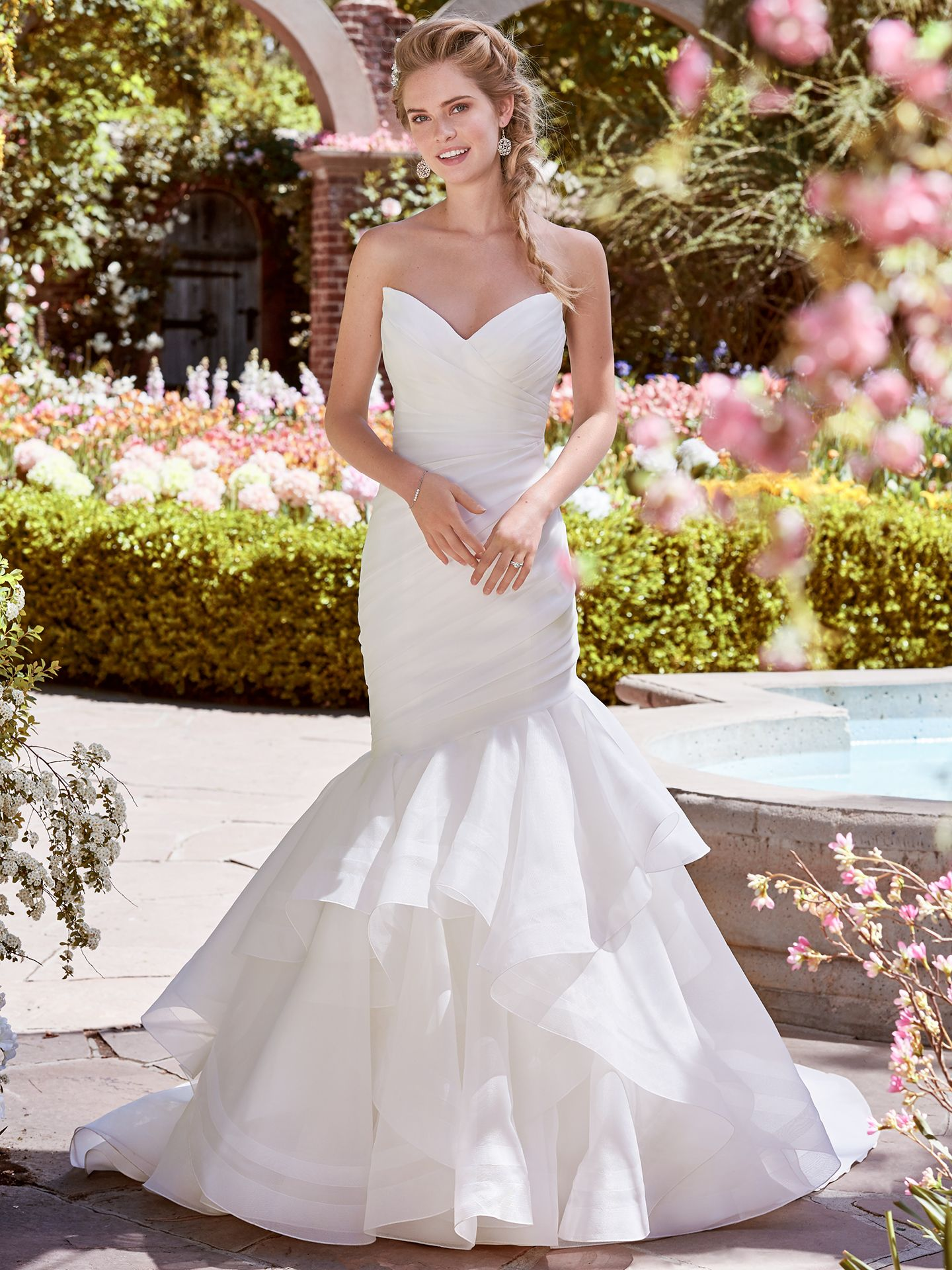 Asymmetrical Ruching Adds Movement and Dimension. Wedding Gowns that Look Great in Photos - Patsy wedding dress by Rebecca Ingram
