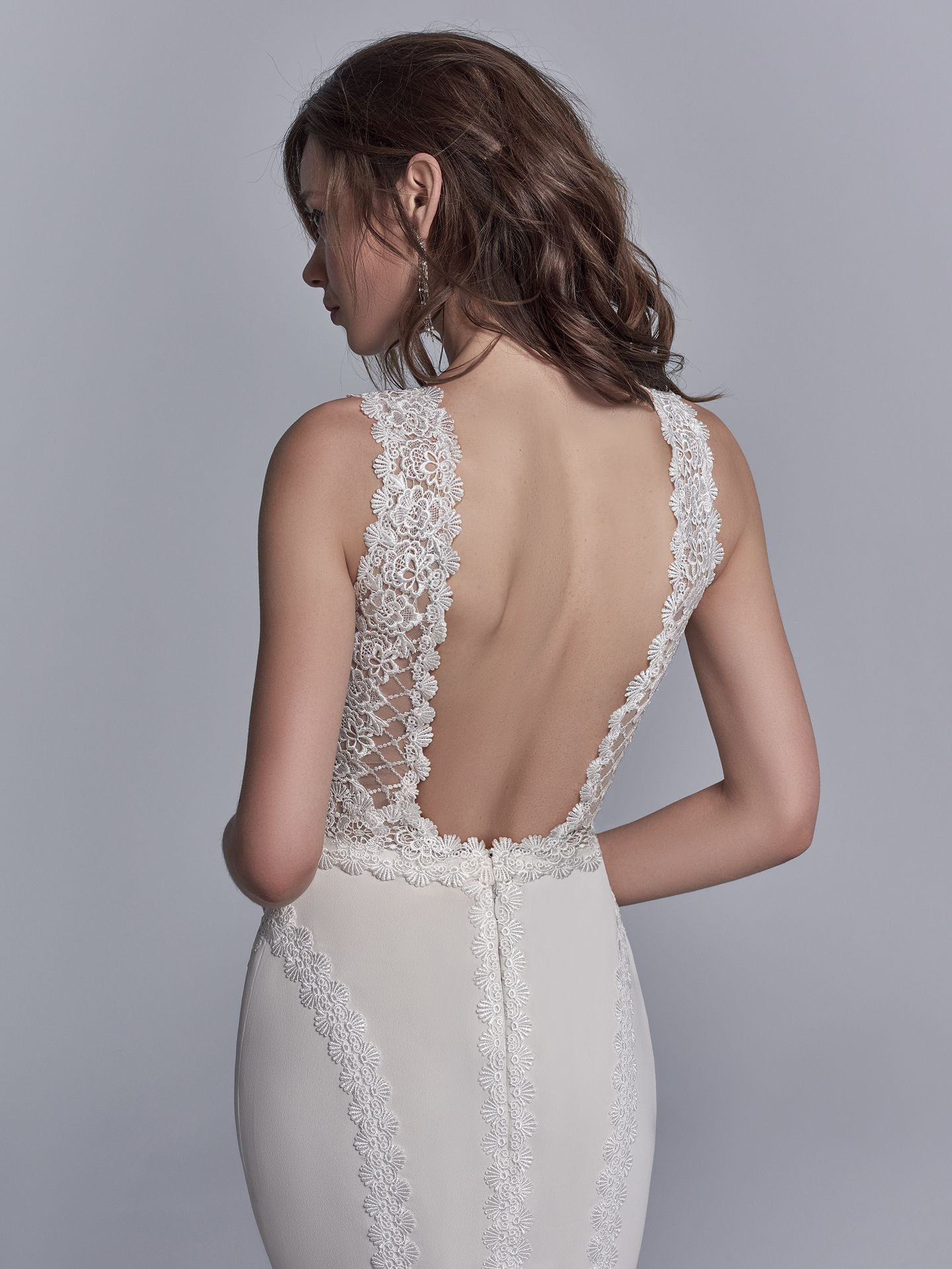 15 Gorgeous Statement-Back Gowns for the Stylish Bride - Barrington boho wedding dress by Sottero & Midgley