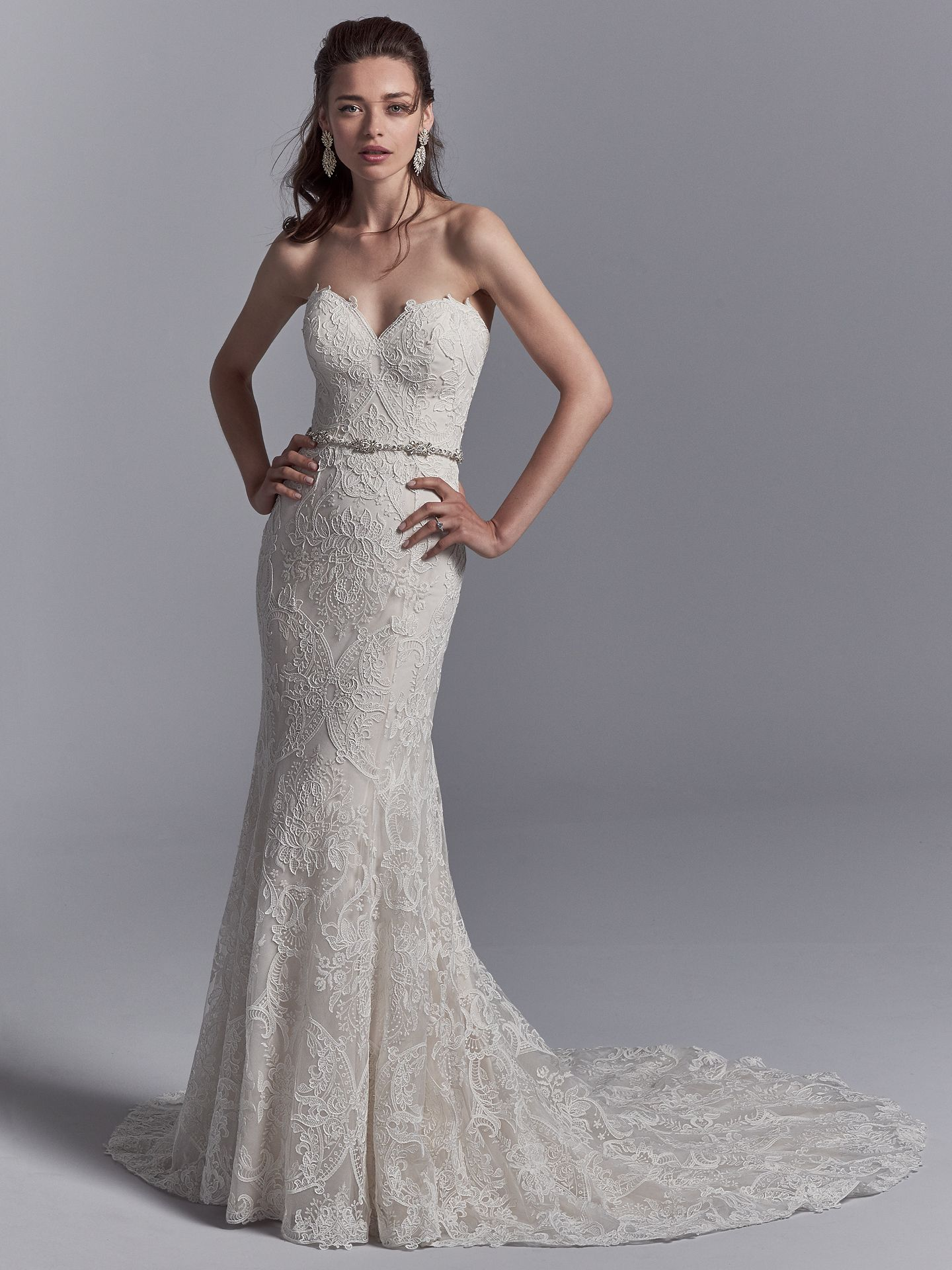 The Latest Wedding Dress Trends for Engagement Season 2018 - Graham wedding dress with Jersey lining for a luxe, breezy and figure-flattering fit.