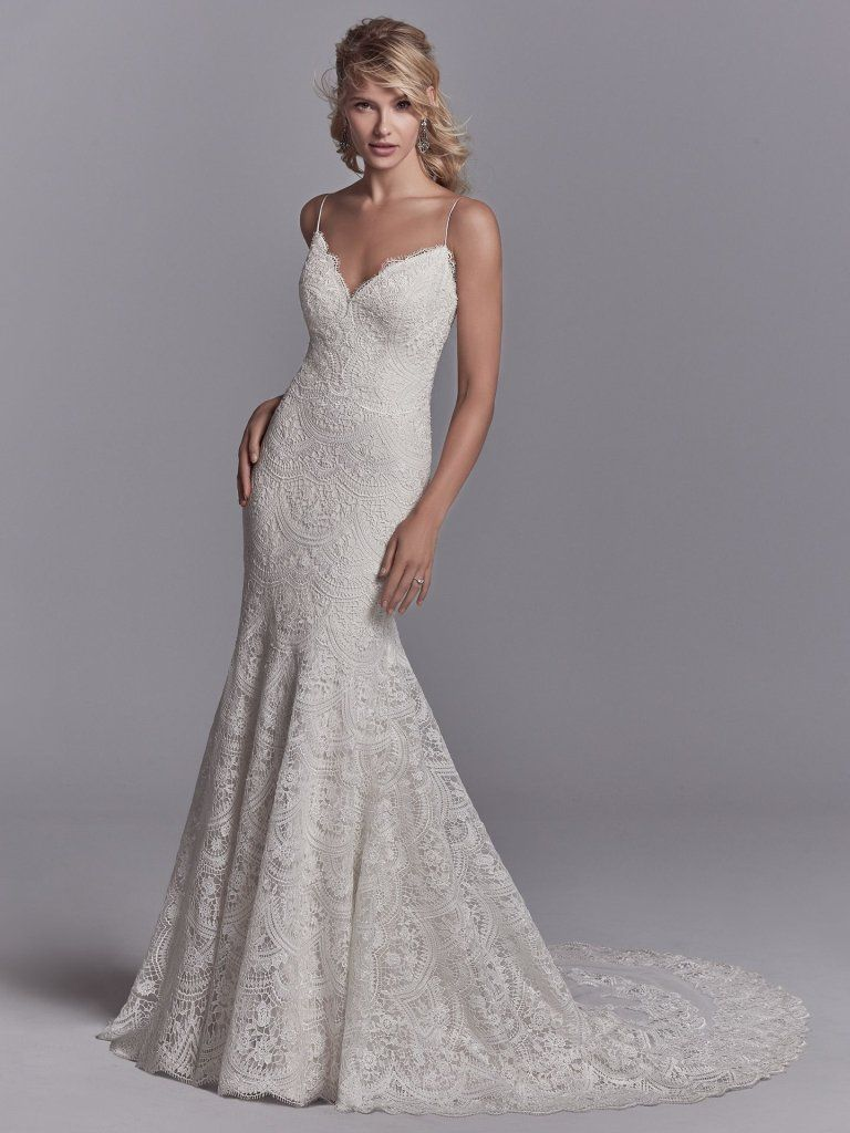 Maxwell Rose (8SC571) Lace Boho Wedding Dress By Sottero