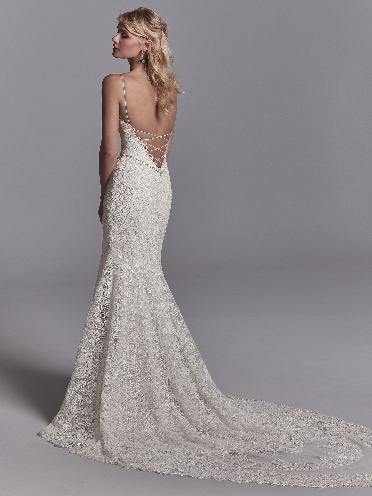 15 Gorgeous Statement-Back Gowns for the Stylish Bride - Unique wedding dress with statement back by Sottero and Midgley