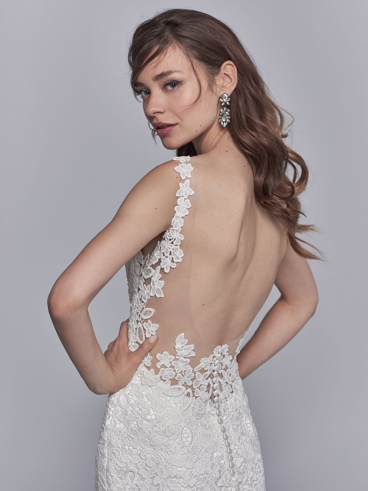 Bold lace wedding dress Trudy by Maggie Sottero