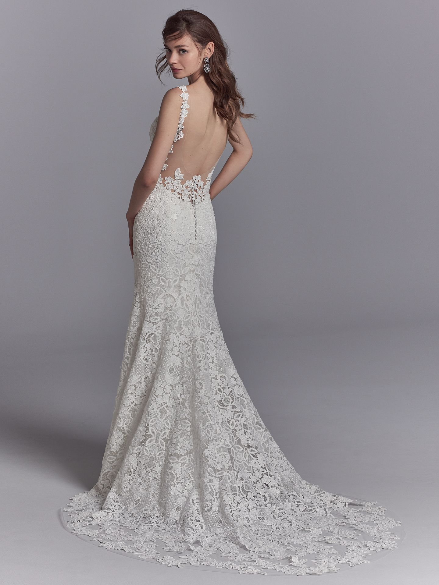 Best Accessories for Your Boho Wedding Dress - Presca boho wedding dress by Sottero and Midgley can be paired with a statement earrings