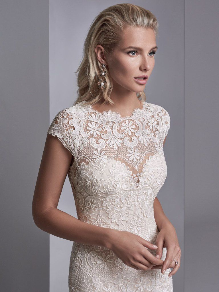 Seven Types of Lace To Know When Shopping For A Wedding Dress: Maggie Sottero's Lace Library. Zayn Rose wedding dress by Sottero and Midgley