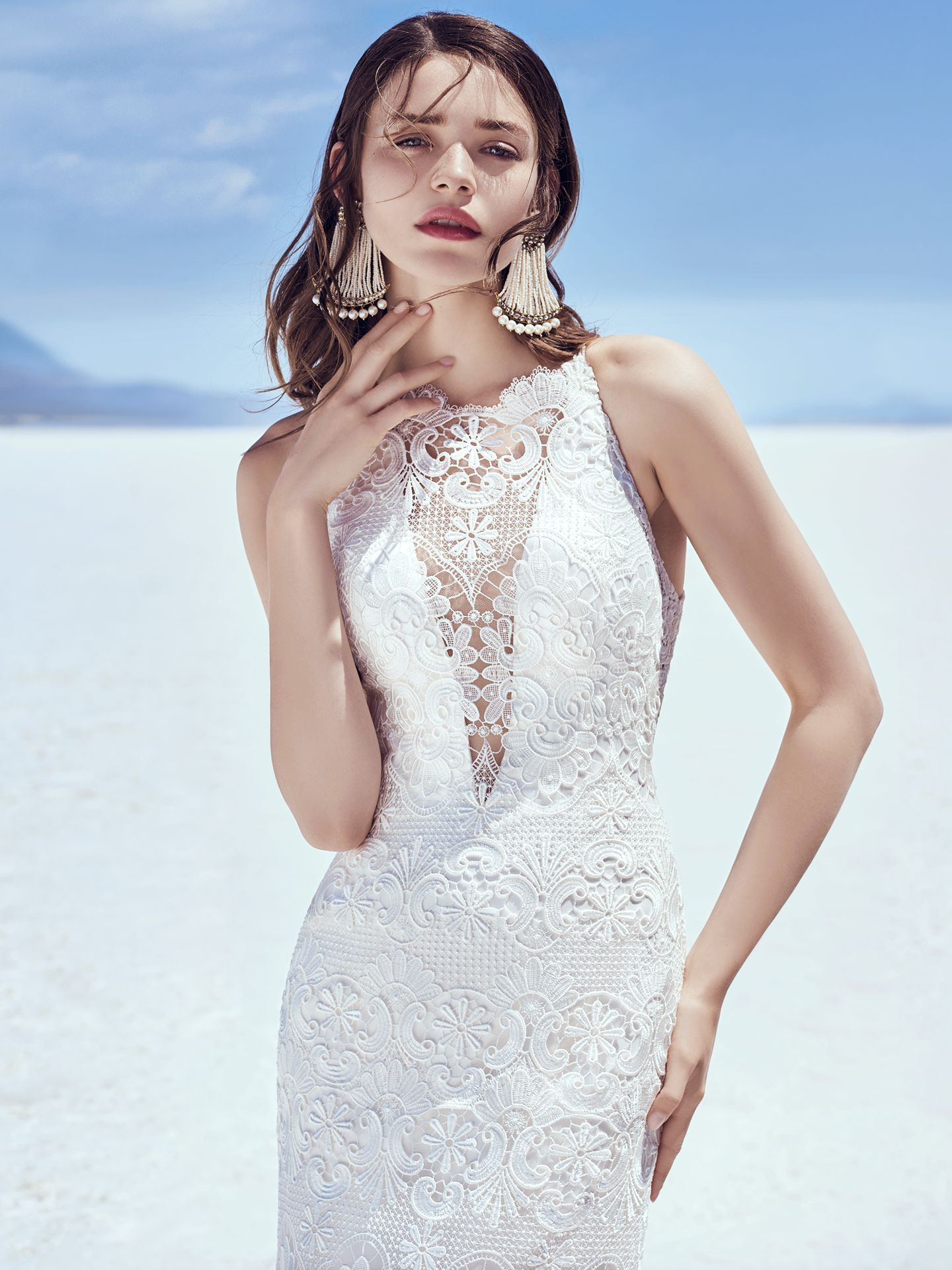 Zayn wedding dress for boho muse—a modern and feminine slip style. - The Latest Wedding Dress Trends for Engagement Season 2018