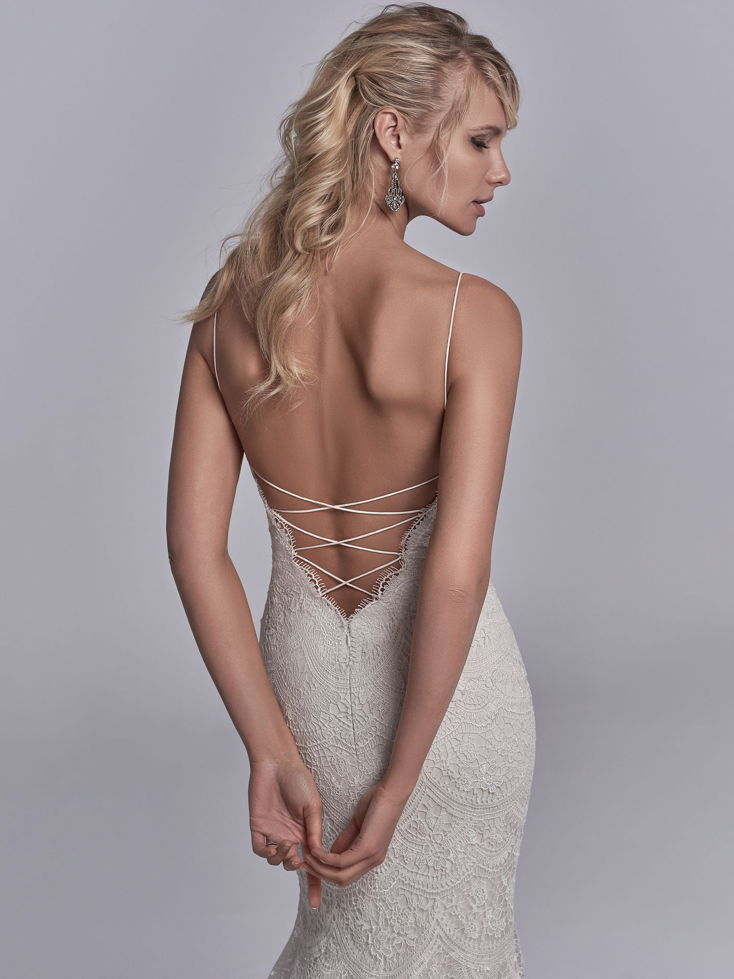 The Latest Wedding Dress Trends for Engagement Season 2018 - Maxwell Rose wedding dress with Jersey lining for a luxe, breezy and figure-flattering fit.