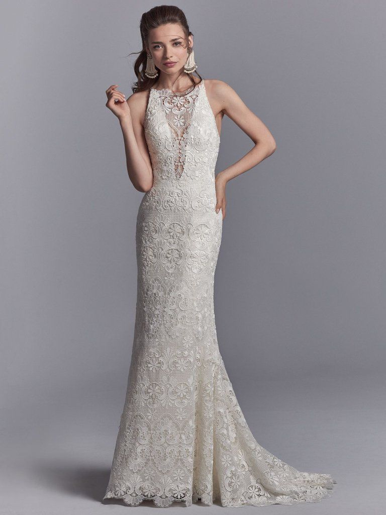 Seven Types of Lace To Know When Shopping For A Wedding Dress: Maggie Sottero's Lace Library. Zayn wedding dress by Sottero and Midgley